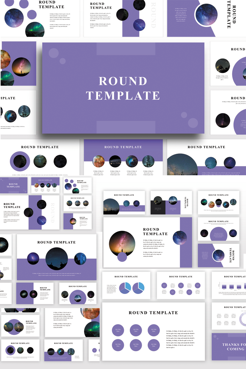 """Round"" modèle PowerPoint Premium #82895 - screenshot"