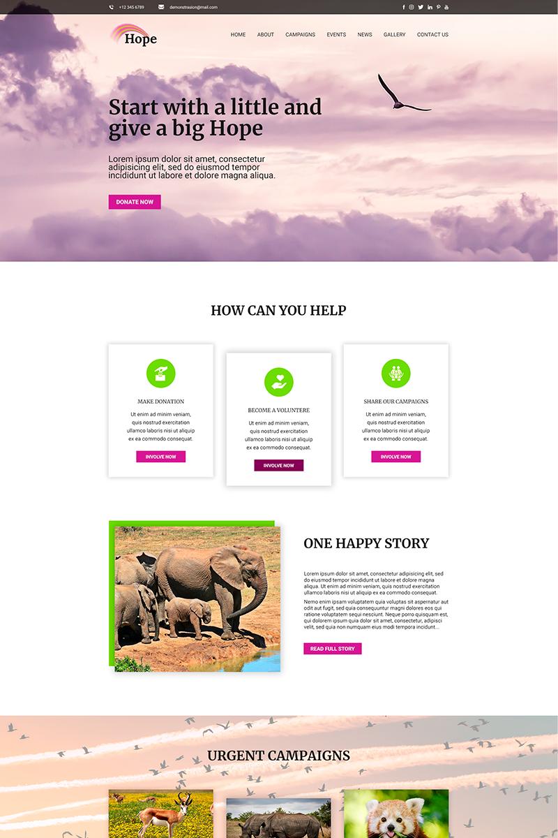 Szablon PSD Hope | Charity #82806