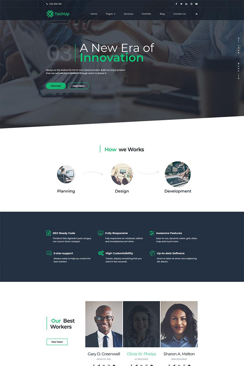 """Techup - IoT and AI Tech Startup"" WordPress thema №82872"