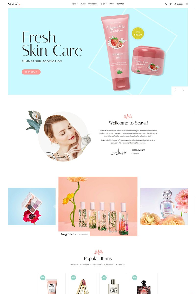 "Tema WooCommerce #82848 ""Scava Beauty & Spa"""