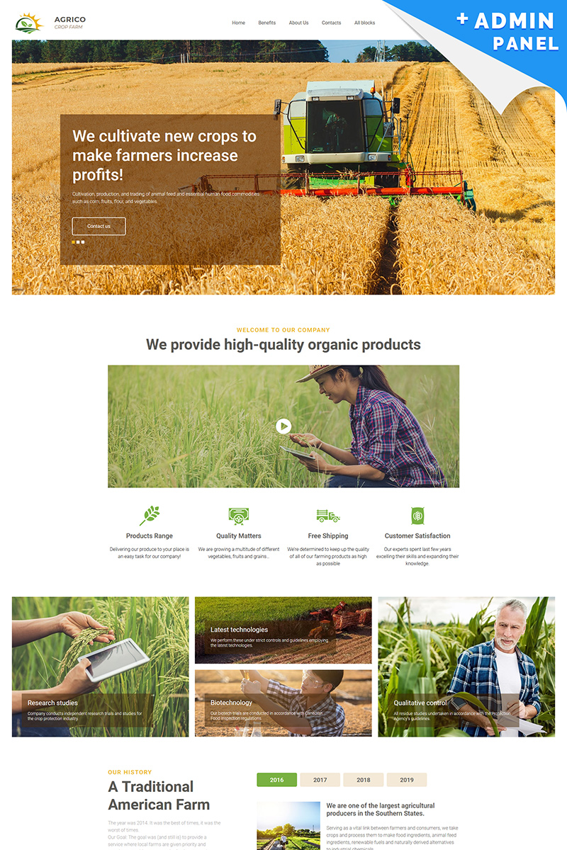 Agrico - Crop Farm Landing Page Template