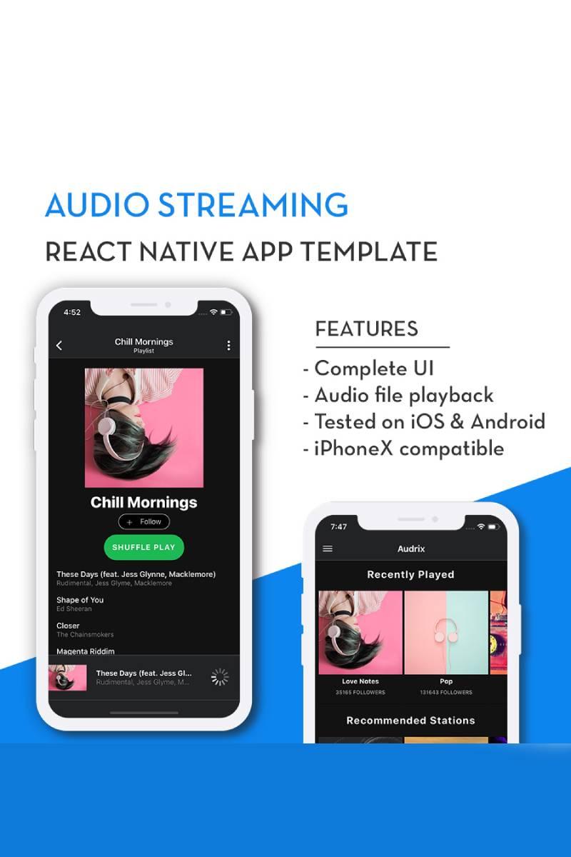Audrix App Template #82923 - skärmbild