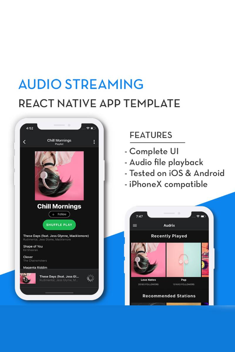 """""""Audrix"""" App Template №82923 - screenshot"""