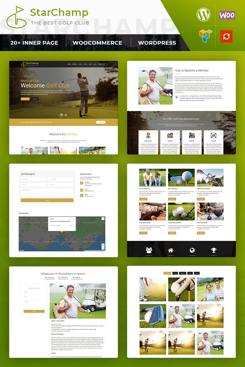 Bootstrap motyw WordPress Star Champ: GolfClub #82981 - zrzut ekranu