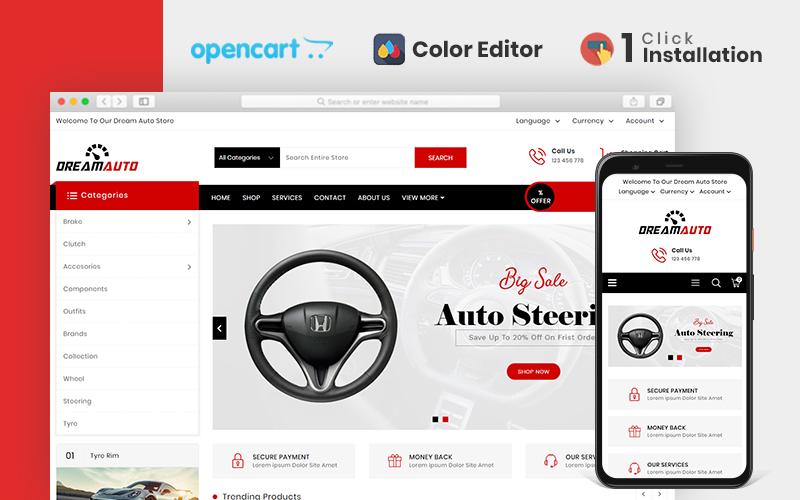 Dream Auto Responsive OpenCart Template