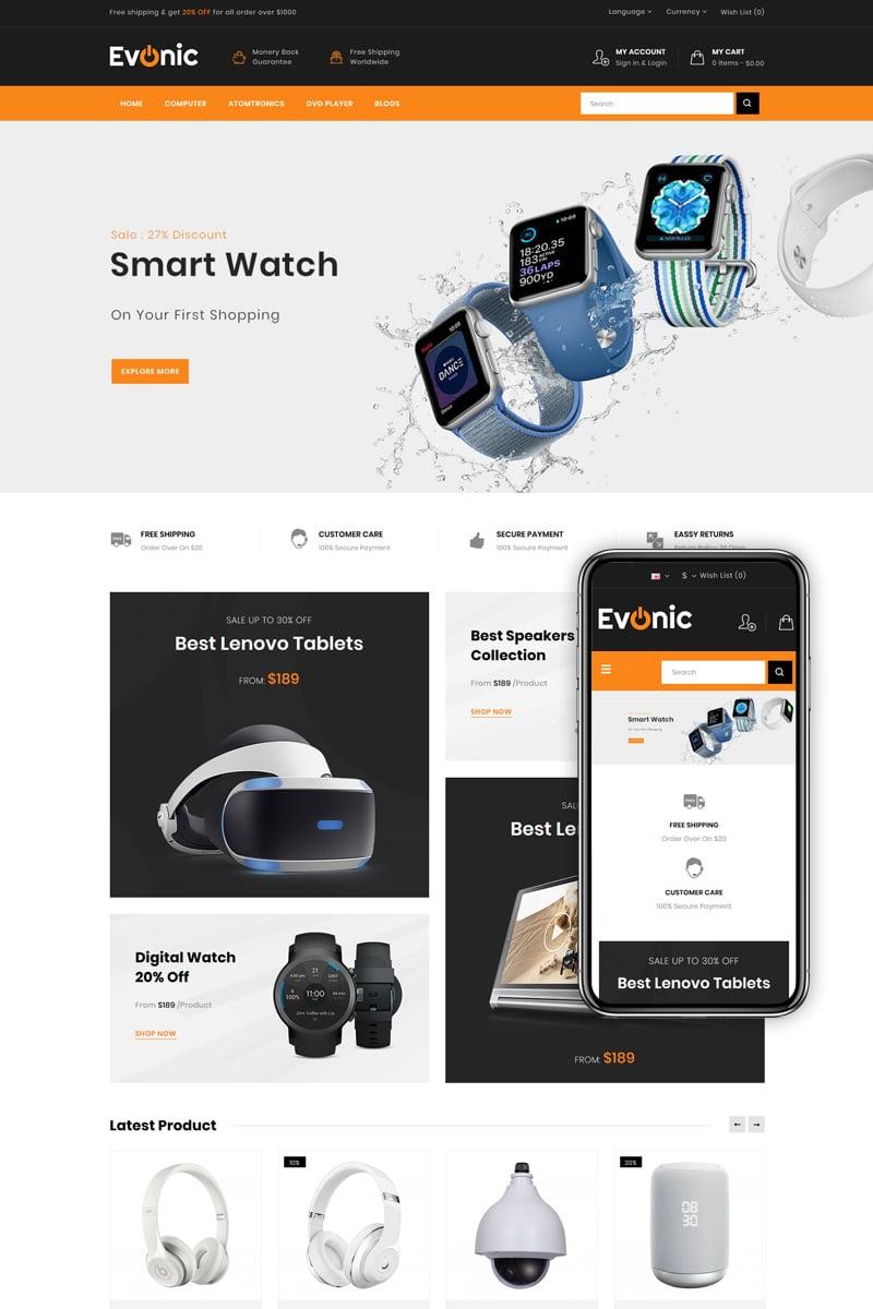 Evonic - Multipurpose Shop OpenCart Template - screenshot