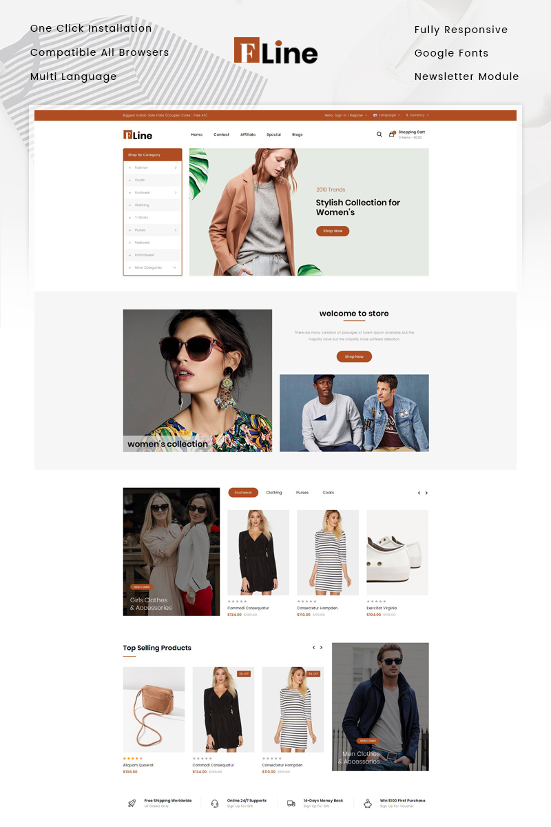 FLine - Fashion Store №82943 - скриншот