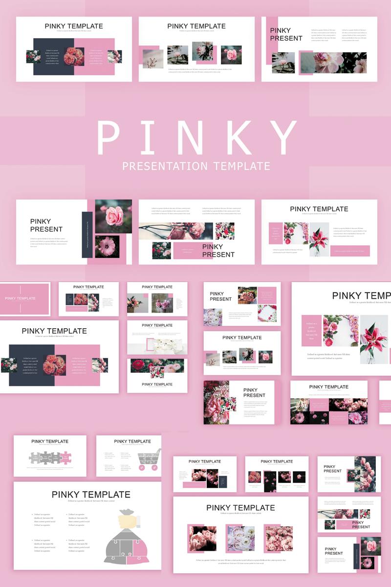 """Luxusní PowerPoint šablona """"Pinky"""" #82902"""