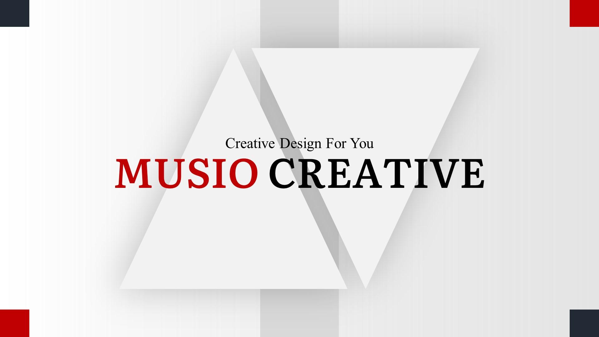 """Musio Creative"" Premium PowerPoint Template №82910"