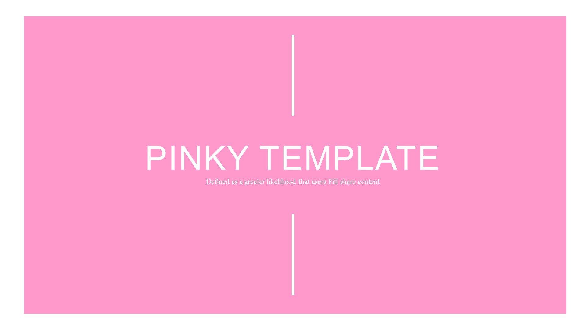 """Pinky"" 奖金PowerPoint 模板 #82902"