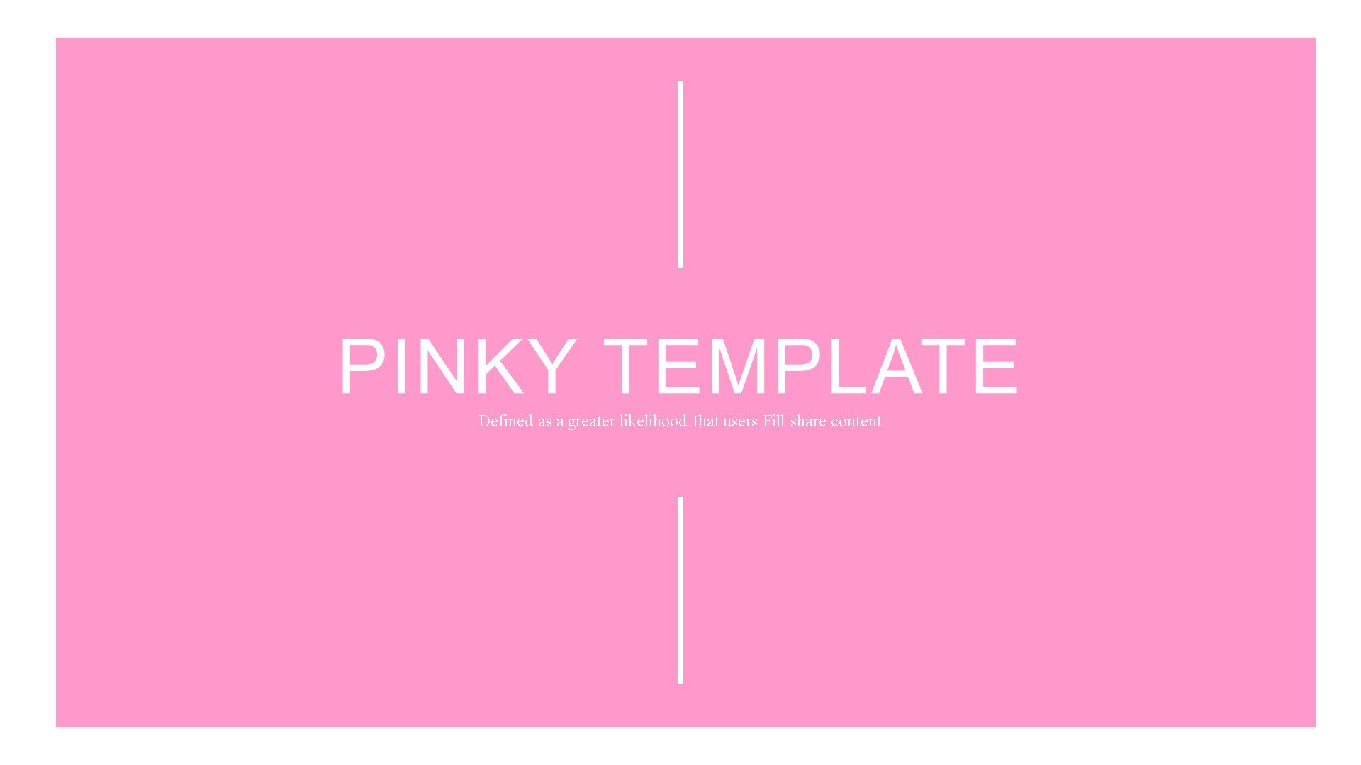 """Pinky"" Premium PowerPoint Template №82902"