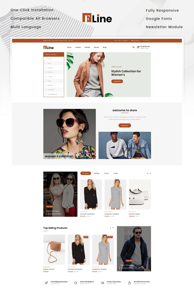 Responsivt FLine - Fashion Store OpenCart-mall #82943 - skärmbild