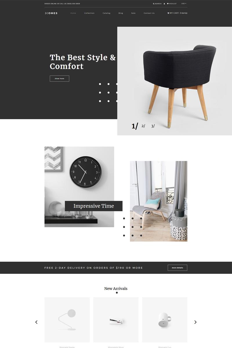 Responsywny szablon Shopify Homes - Home Decor Multipage Minimalistic #82914