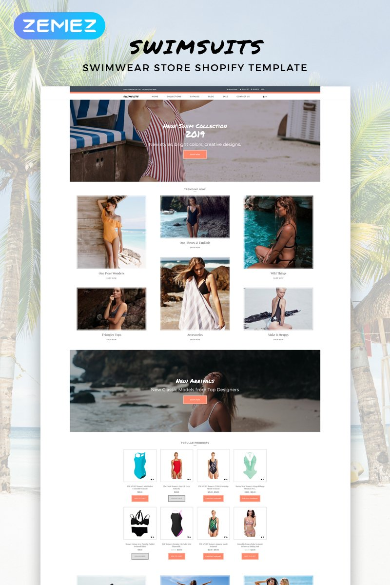"Responzivní Shopify motiv ""Swimsuits - Swimwear Multipage Clean"" #82916"