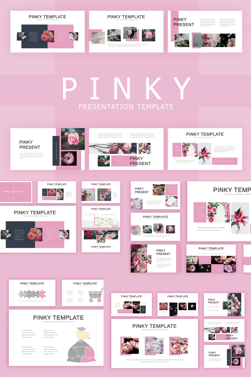 "Tema PowerPoint #82902 ""Pinky"" - screenshot"