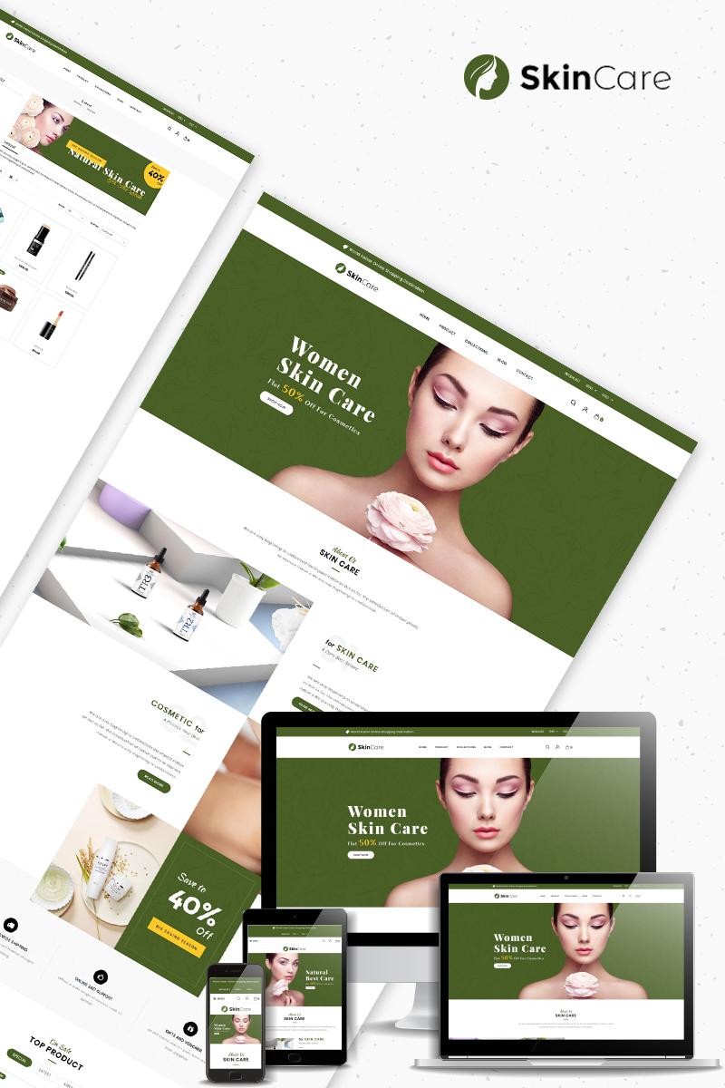 "Tema Shopify Bootstrap #82917 ""Skin Care - Cosmetics Store"""