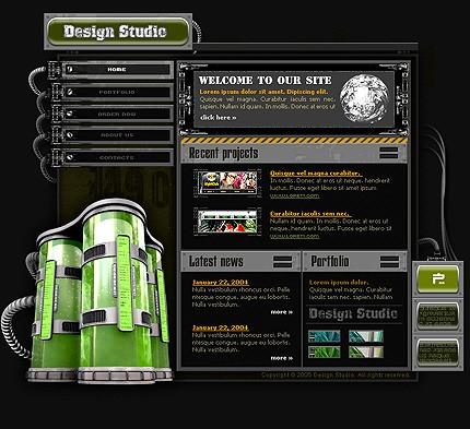 Шаблон сайта на Flash (8377)