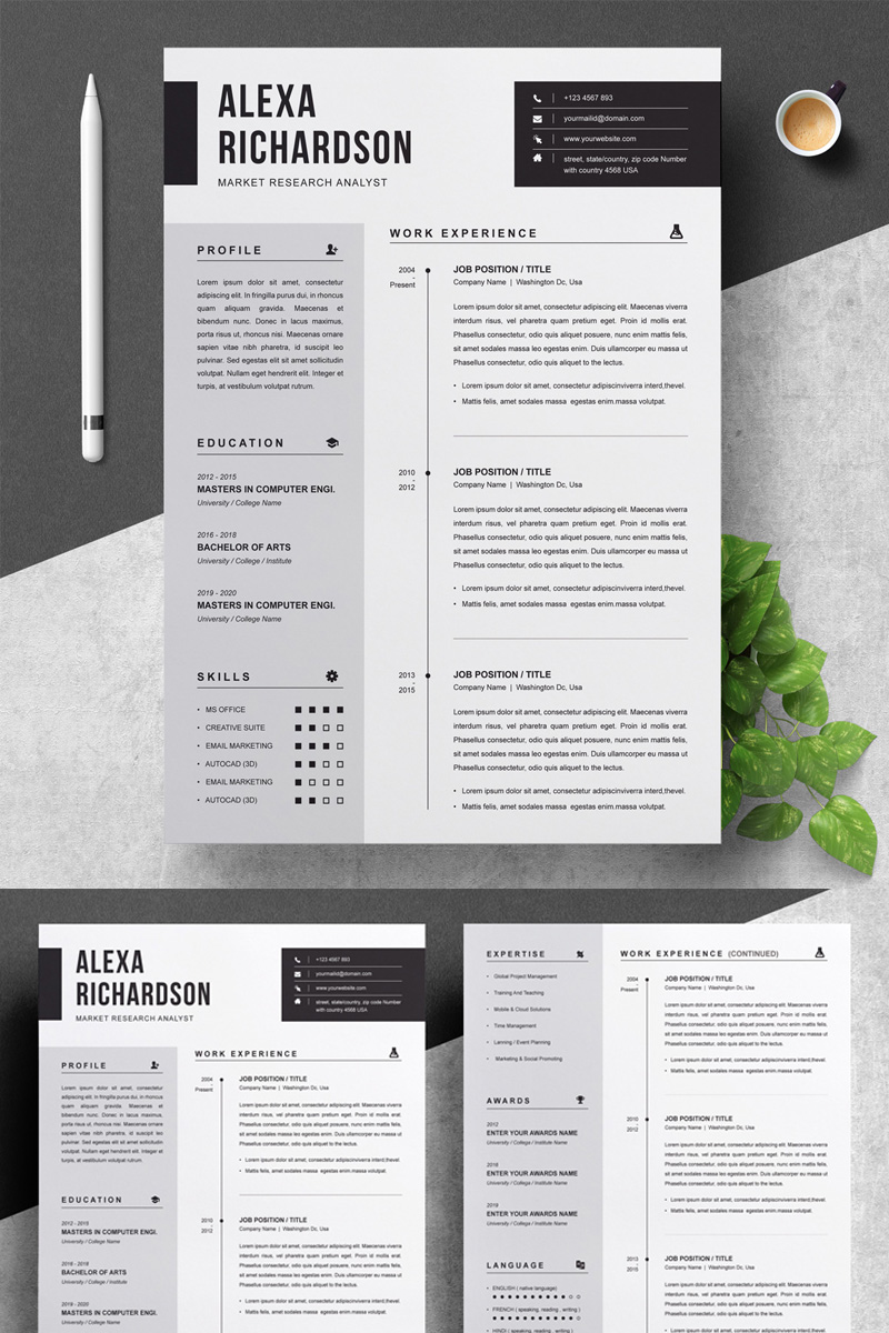 Alexa Resume Template - screenshot