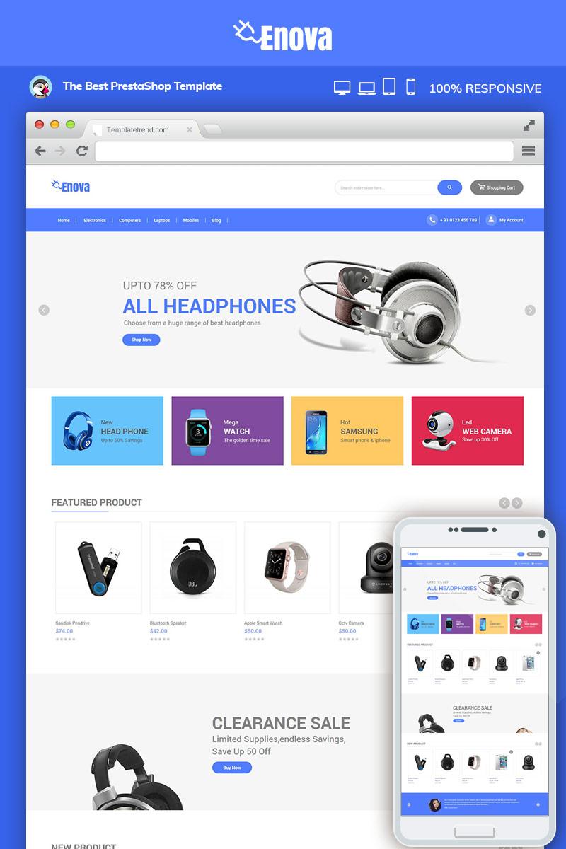 """""""Enova Electronics Mobile"""" - Magento шаблон №83025"""