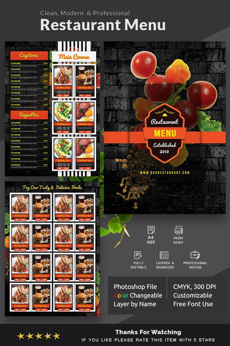 Food Menu Corporate Identity Template - screenshot