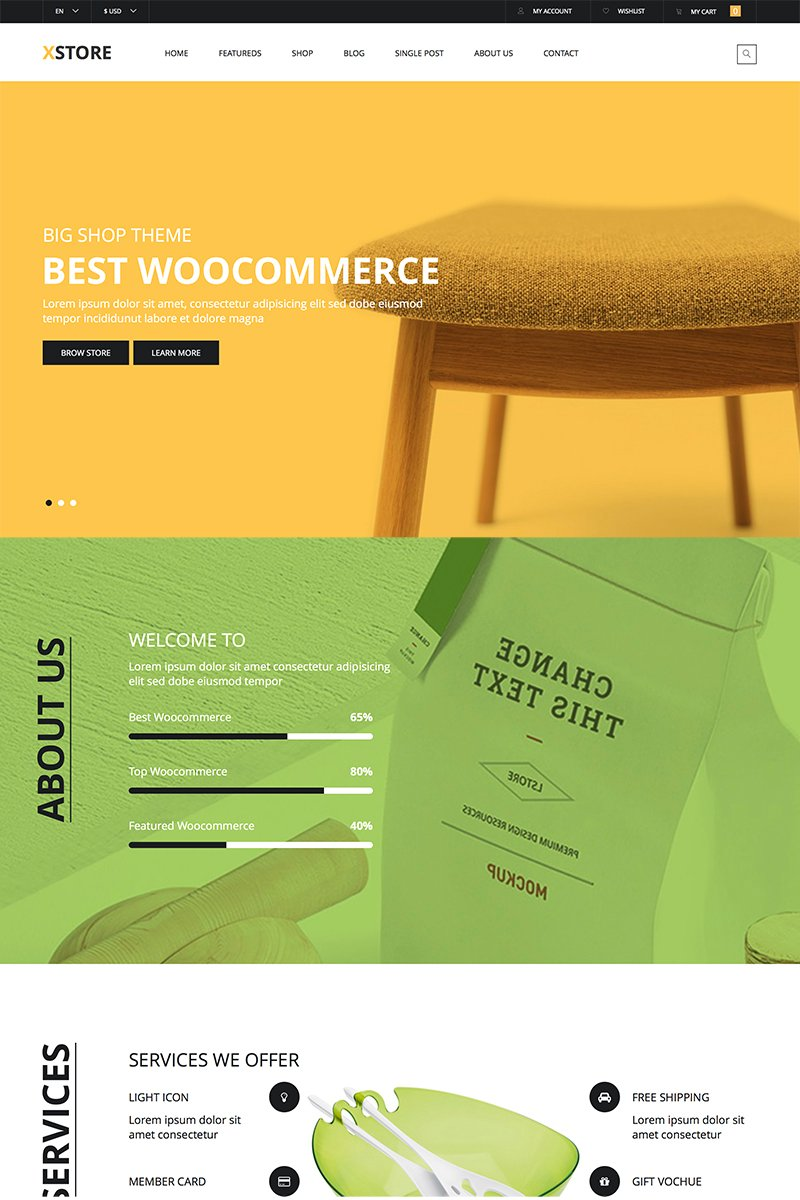 Motyw WooCommerce X-Store Furniture #83021