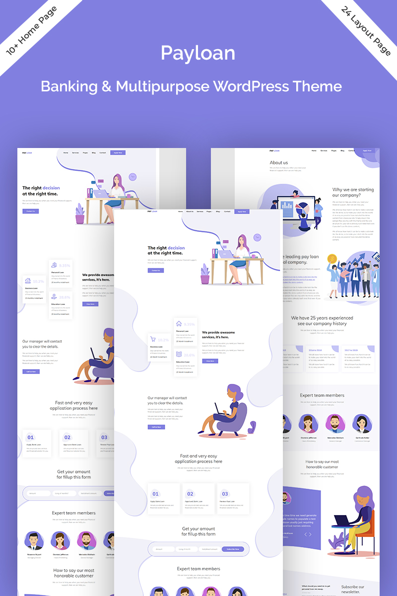 Payloan - Bank Loan & Multipurpose Tema WordPress №83034 - screenshot