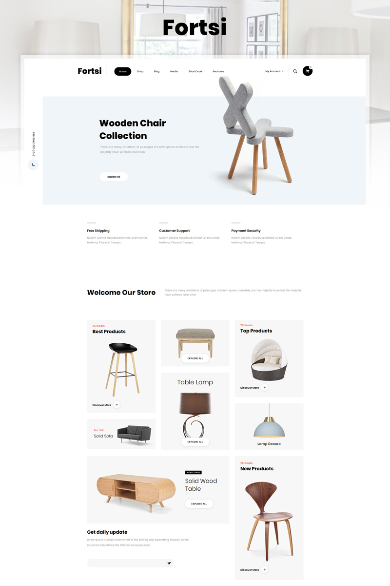 Responsywny motyw WooCommerce Fortsi - Furniture Store #83056