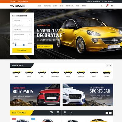 Responsywny szablon strony www #83054 na temat: sprzedawca samochodów