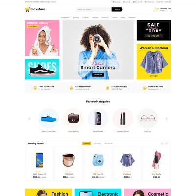 Cosmetics Store Responsive OpenCart Sablon