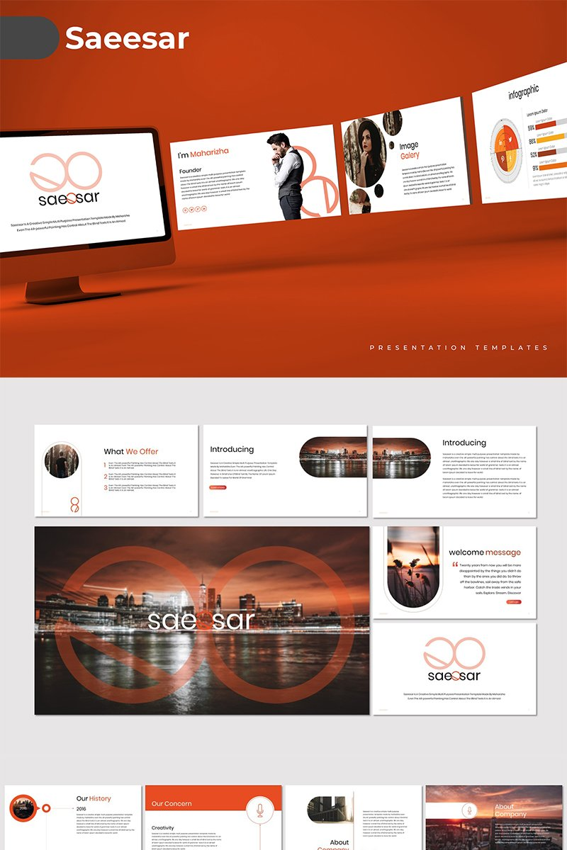 Saeesar PowerPoint Template