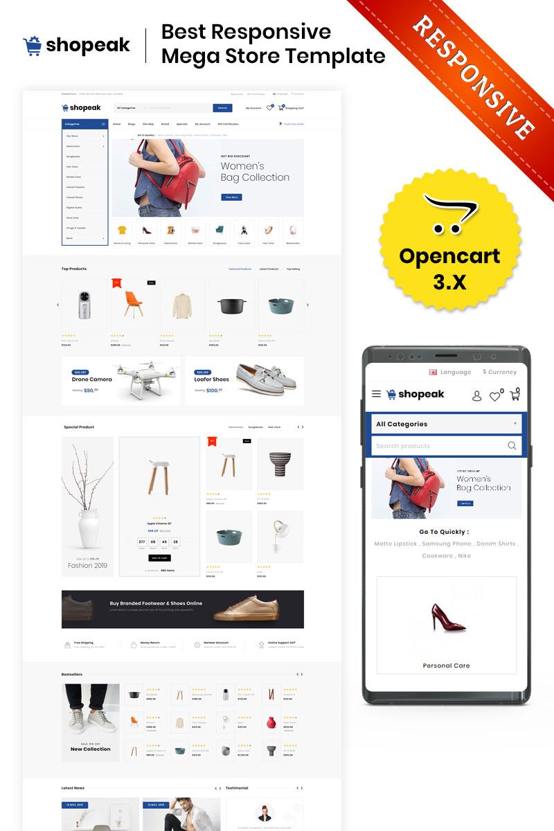 Shopeak - The Mega Store Responsive OpenCart Template