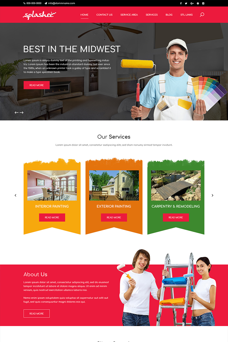 Splashee - Painting Services PSD Template