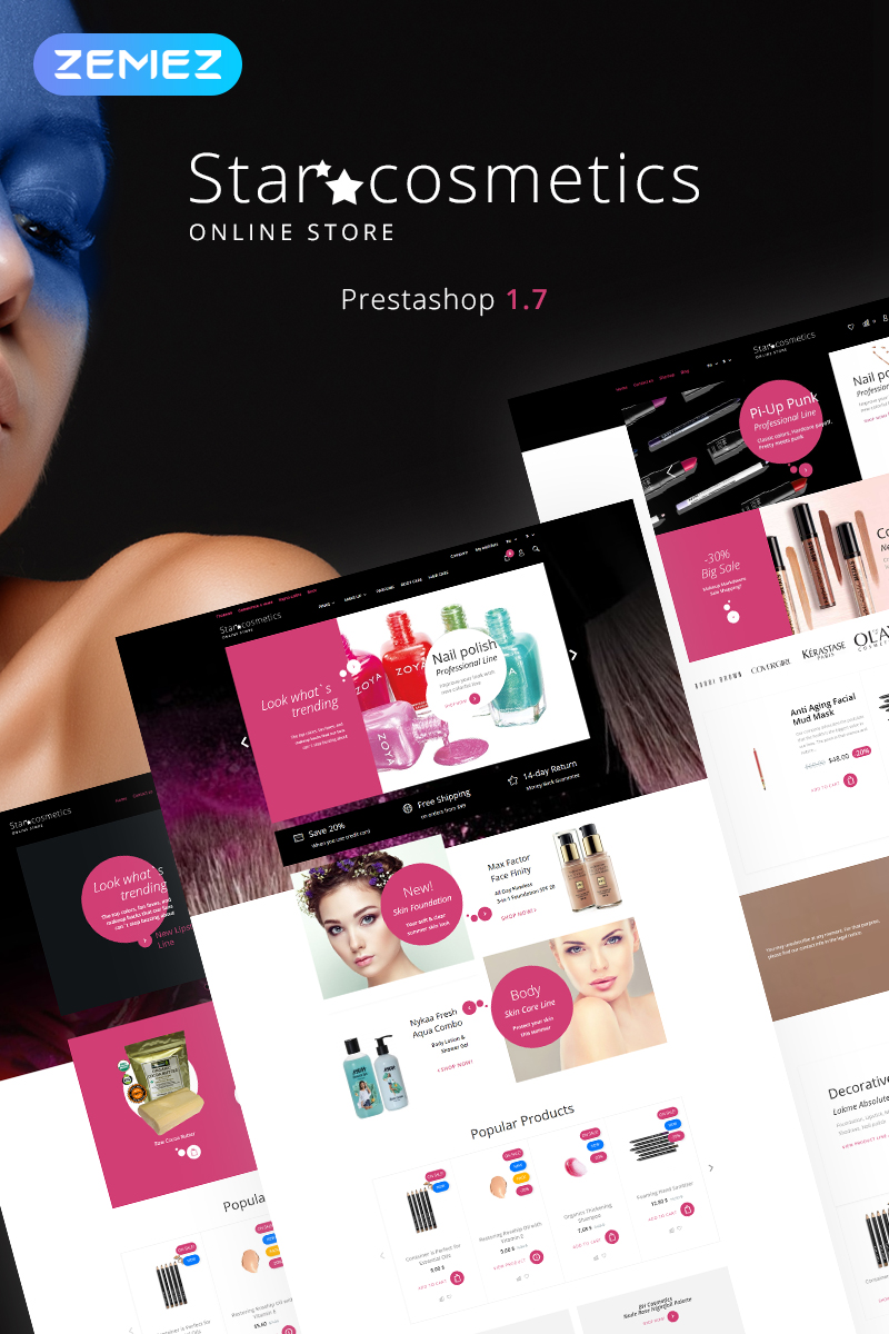 Star Cosmetics - Beauty Store Ecommerce Bootstrap Clean PrestaShop Theme