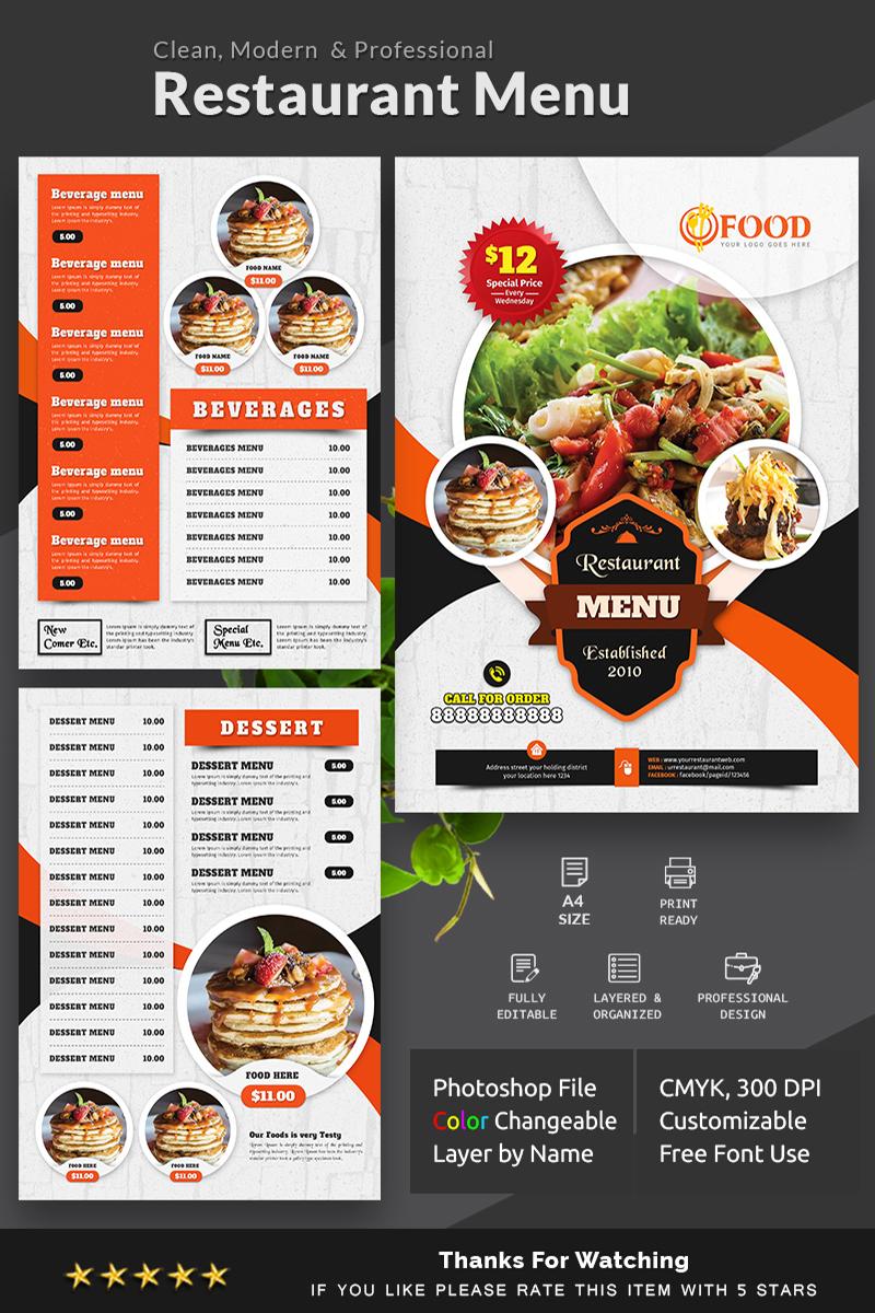 tasty restaurant menu corporate identity template  83093