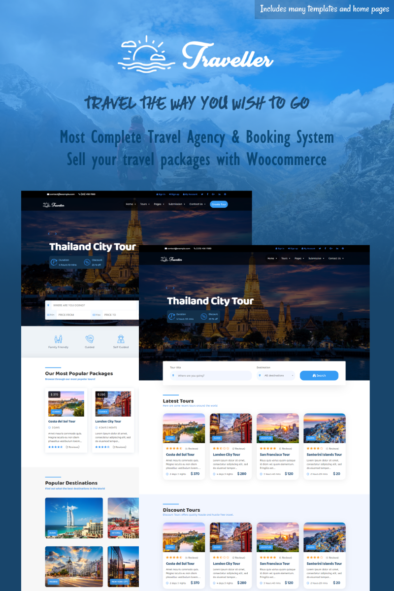 Traveller - Tour & Travel WordPress Theme