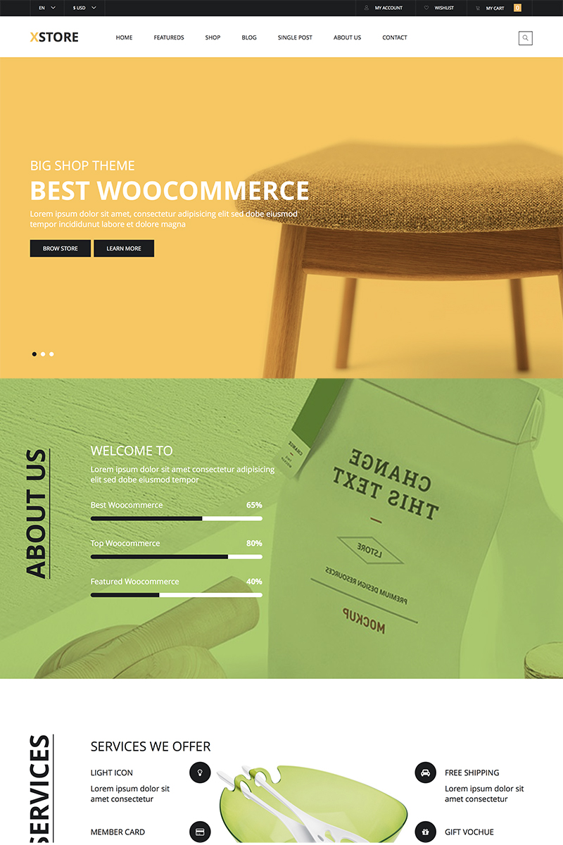 X-Store Furniture Tema WooCommerce №83021