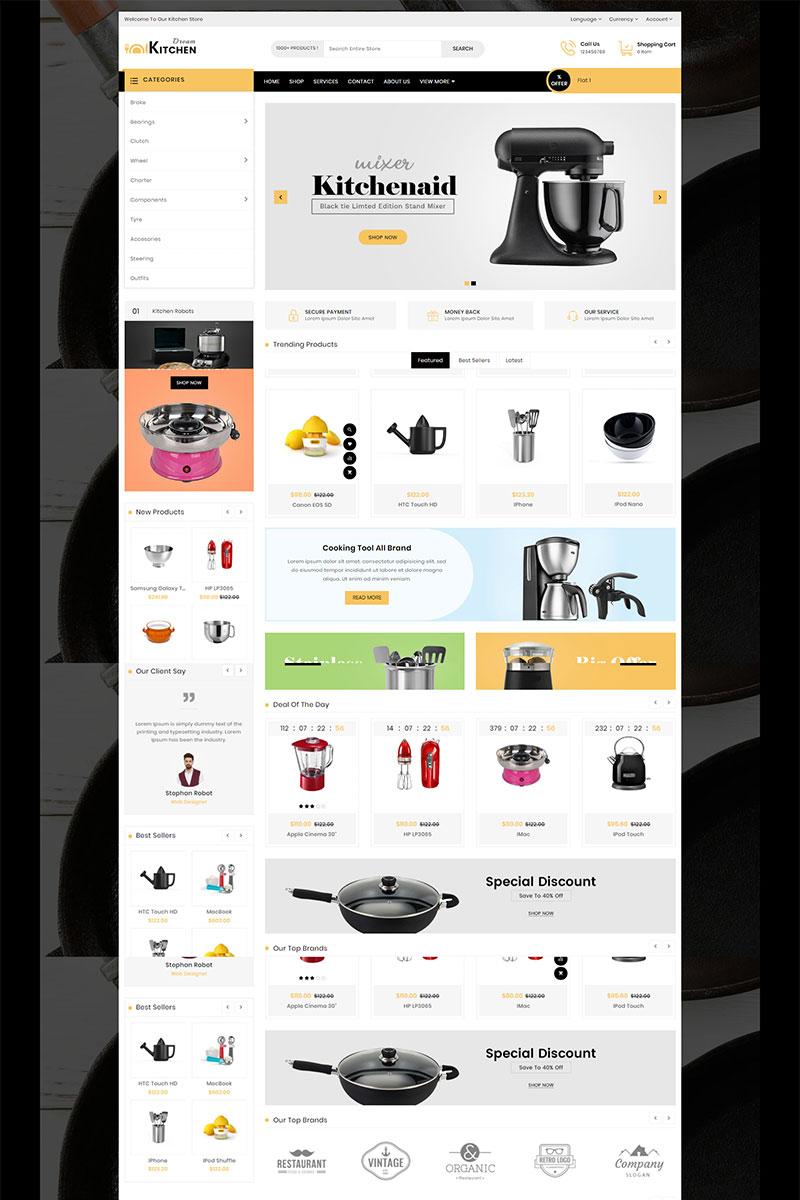 """Dream Kitchen Responsive"" - адаптивний OpenCart шаблон №83134"