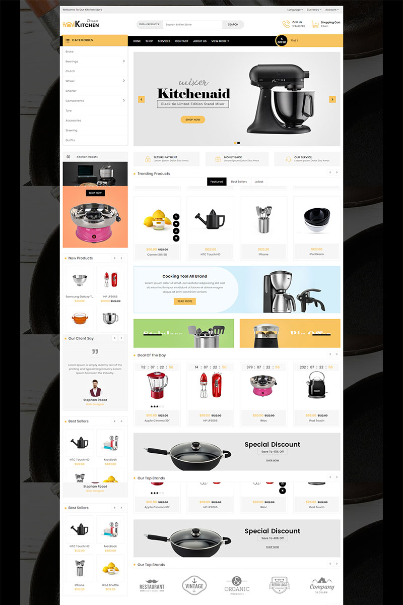 Dream Kitchen Responsive OpenCart Template