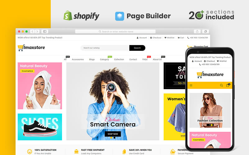 Imax Multipurpose Store Shopify Theme