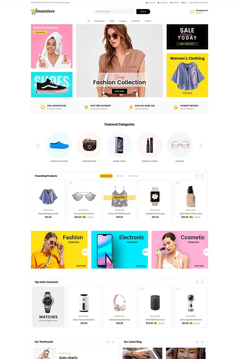 """Imax Store Multipurpose"" thème Shopify adaptatif #83107"