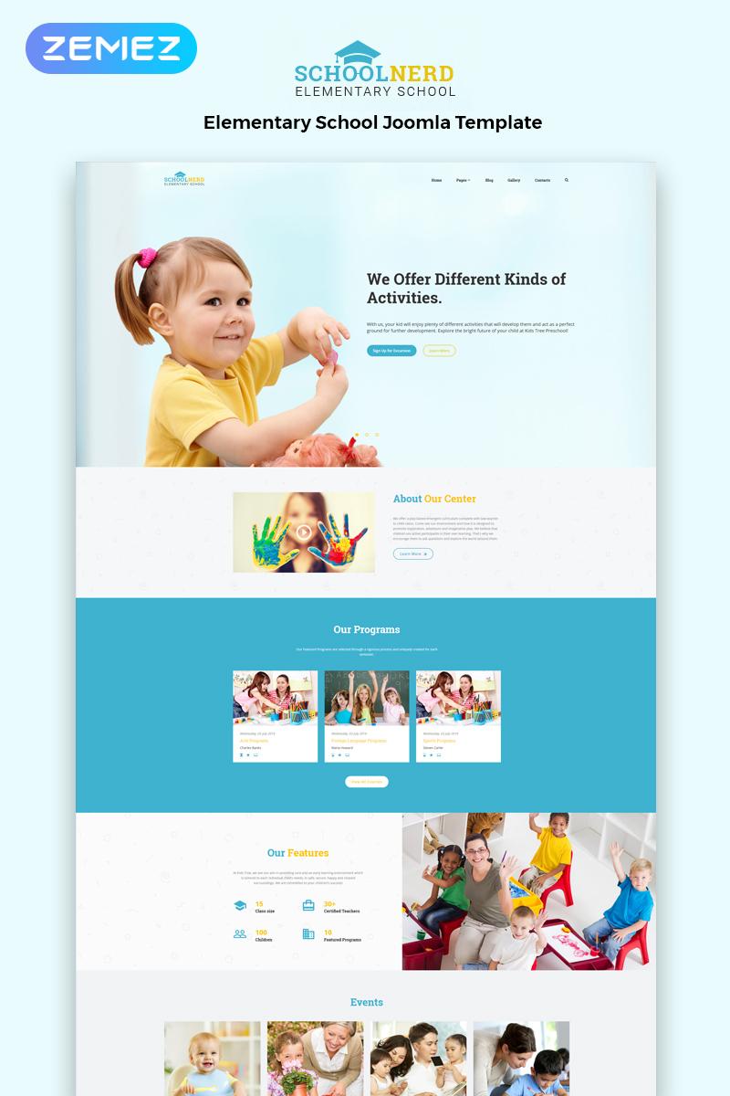 Responsive School Nerd - Elementary School Multipage Modern Joomla #83108