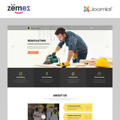 Responsywny szablon Joomla #83110 na temat: firma budowlana
