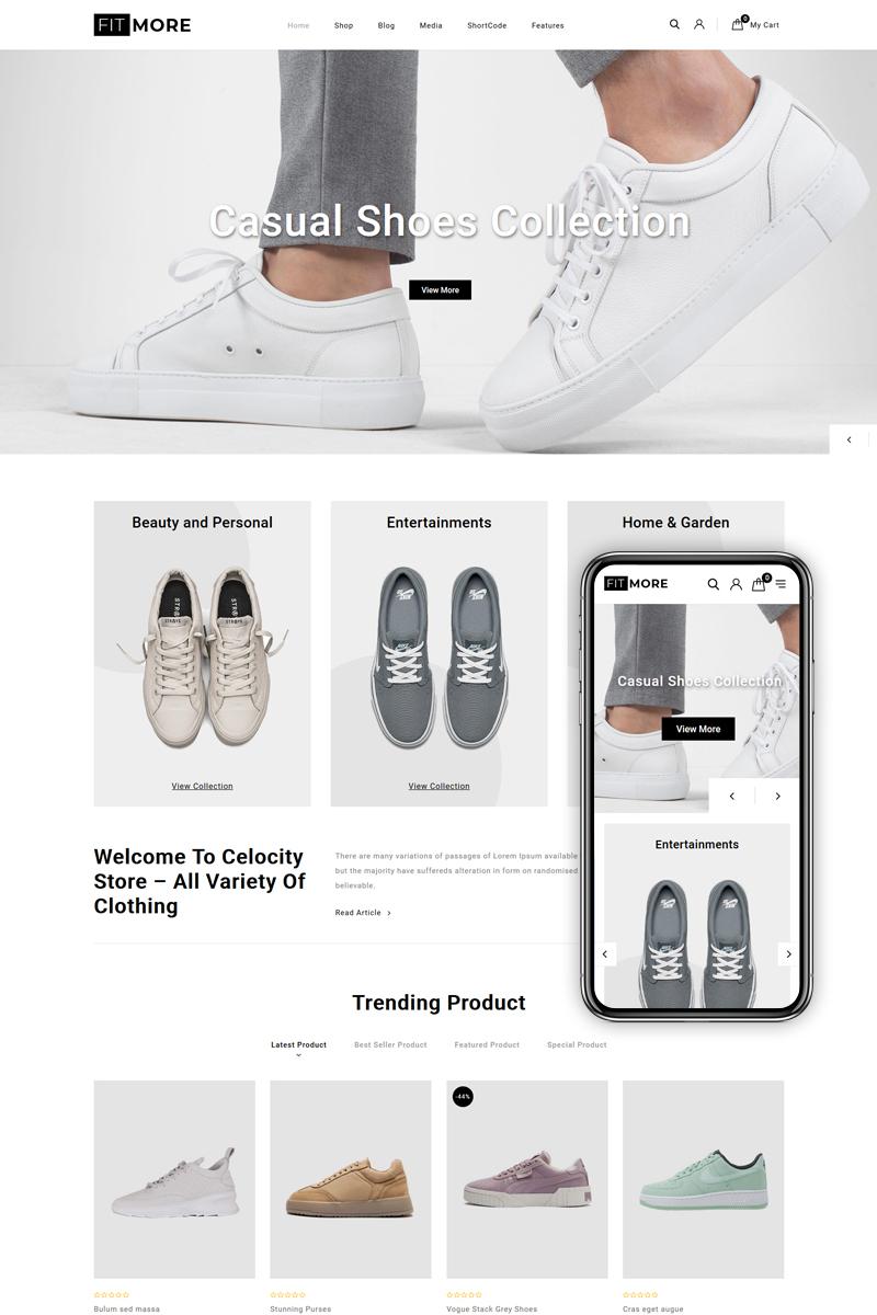 "Responzivní WooCommerce motiv ""FitMore - Shoes Store"" #83106"