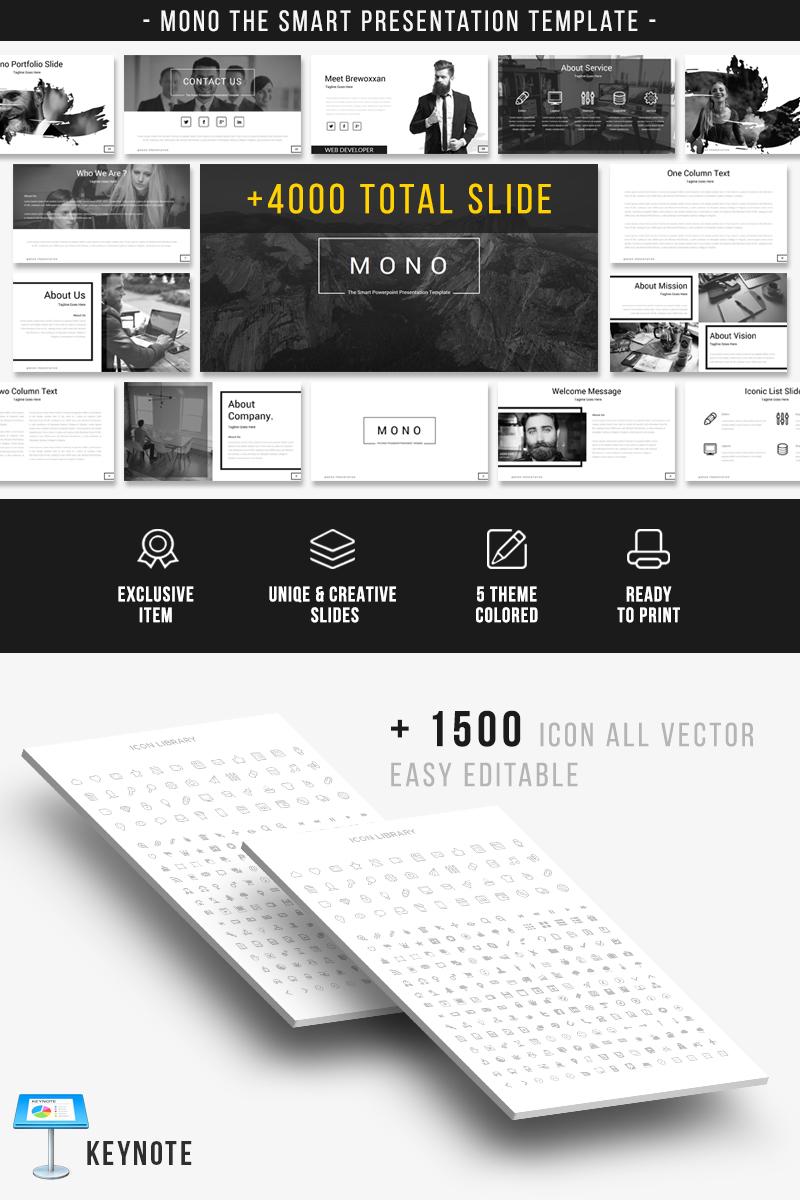 """Šablona pro Keynote """"Mono"""" #83156"""