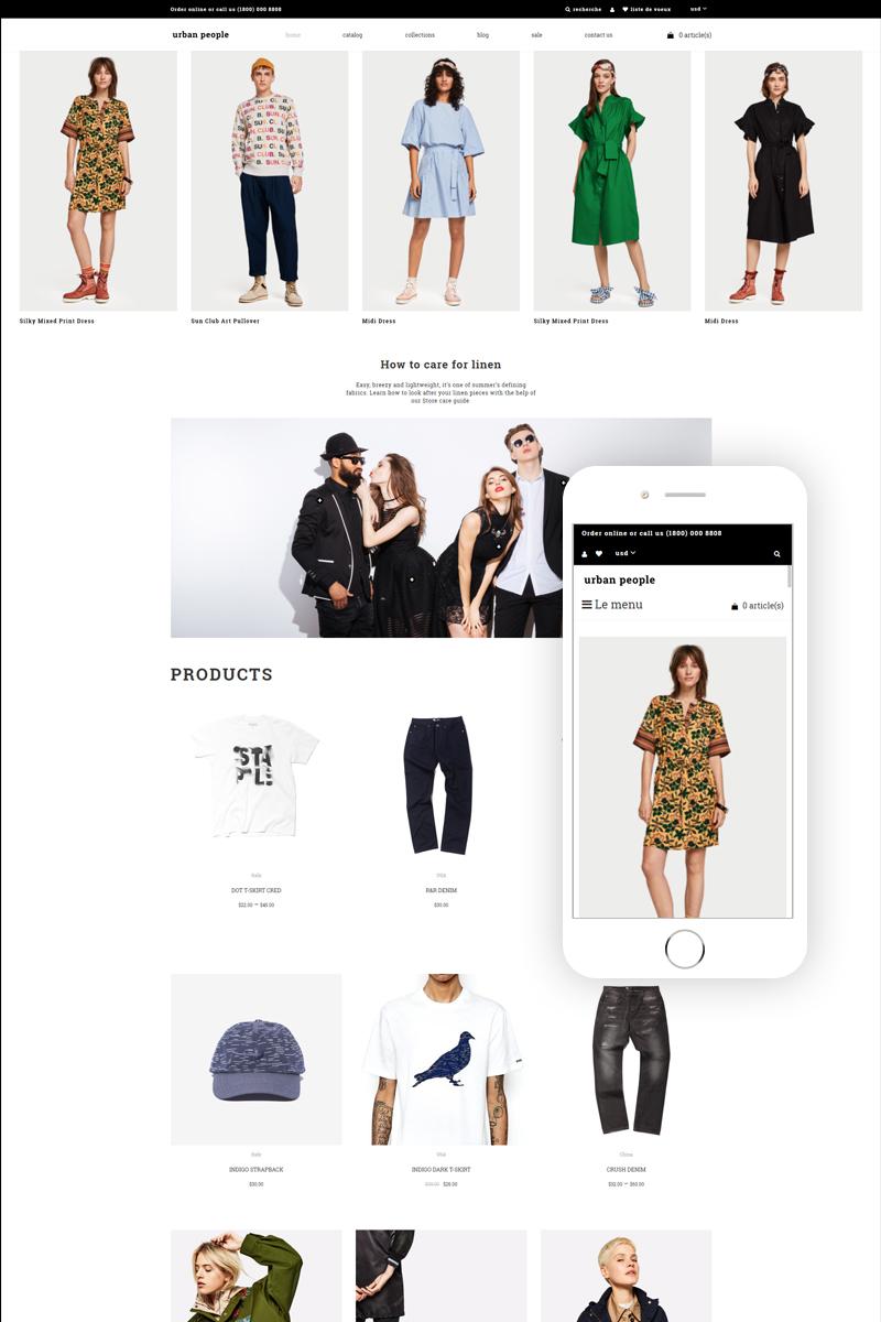 "Tema Shopify ""Urban People - Fashion Store Multipage Creative"" #83109"