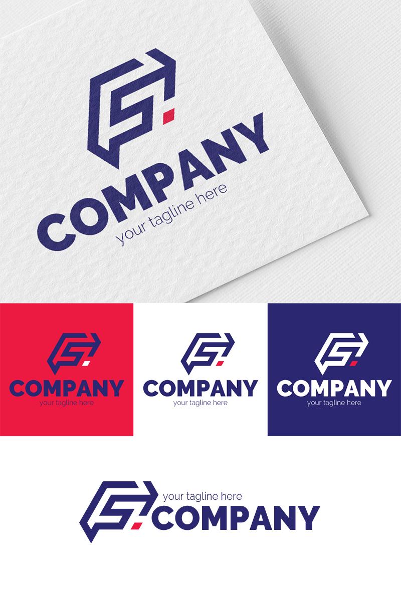 Title: F + S + Arrow Logo Template