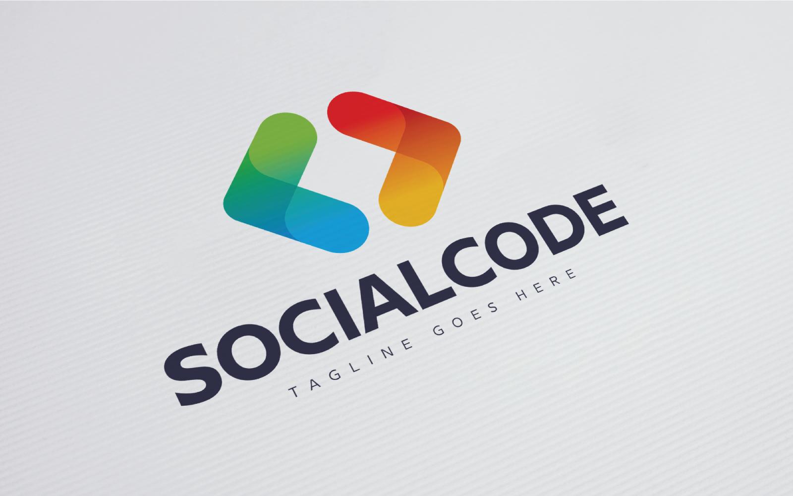 """Modello di Loghi #83297 """"Social Code"""""""