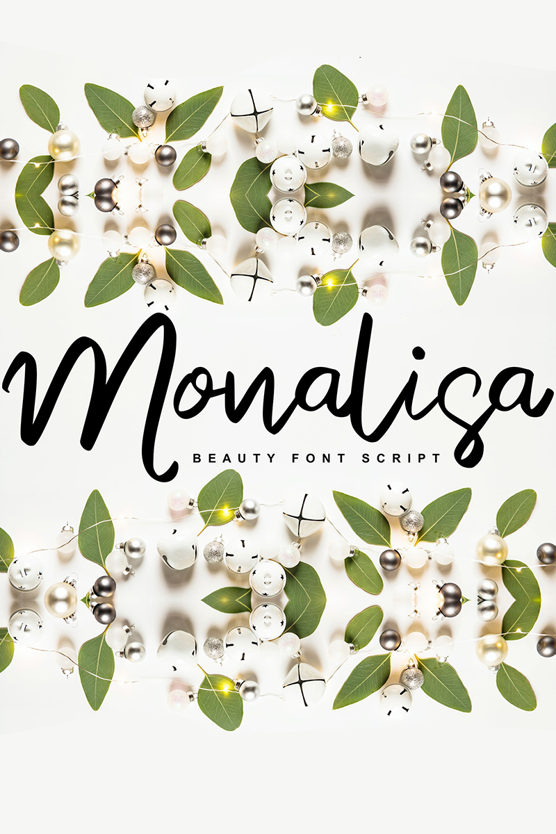 Monalisa | Beauty Script Handwritten Font - screenshot