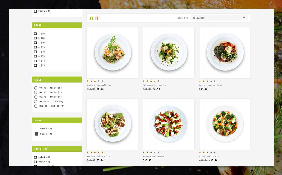 Reszponzív Smileat Food Store PrestaShop sablon 83209