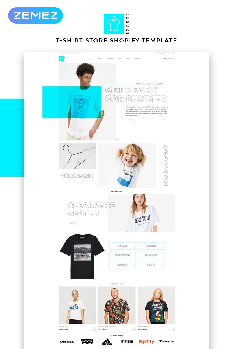 "Tema Shopify ""Tasset - Fashion Store Multipage Modern"" #83212"